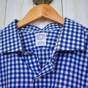 Brooks Brothers Shirts - Brooks Brothers Plaid Cotton Button Down Shirt